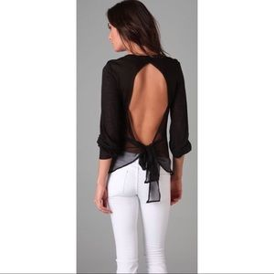 Blue life open back burnout top small